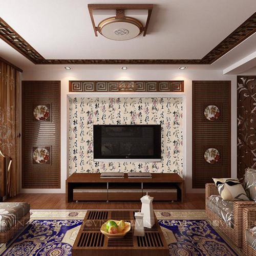 電視背景墻怎么裝修好看?花樣壁紙裝飾最美客廳
